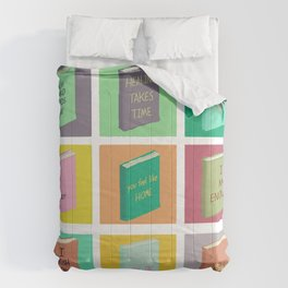 The library of thoughts / Collage art Comforters