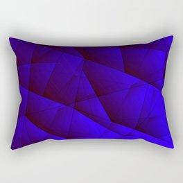 Dark contrasting blue fragments of crystals on triangles of irregular shape. Rectangular Pillow