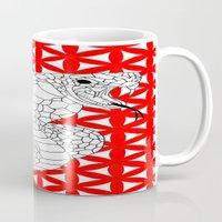 fierce Mugs featuring fierce snake by smurfmonster