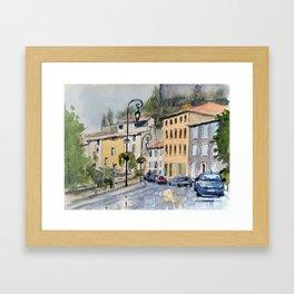 Quai de Pouzadou Framed Art Print