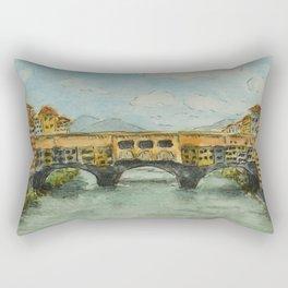 The Old Bridge Rectangular Pillow