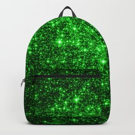 gAlAXy Green Sparkle Stars Backpack