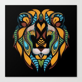 African Lion Head Canvas Print