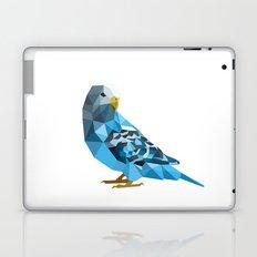 Geometric blue parakeet Laptop & iPad Skin