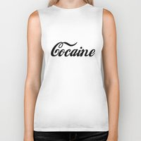 cocaine Biker Tanks featuring Cocaine by Anfetamina