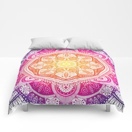 Radiant Mandala Pattern 009 Comforters