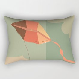 The boy with the kite. Dreams come true here, there and over there Rectangular Pillow