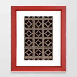 Squares Circles Diamonds Framed Art Print