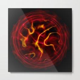 Red plasma flame Metal Print