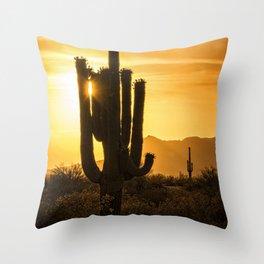 Call It Desert Gold Throw Pillow
