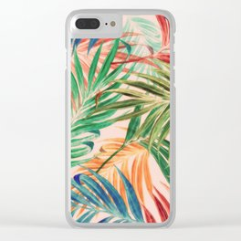 Palm Leaves in color Clear iPhone Case