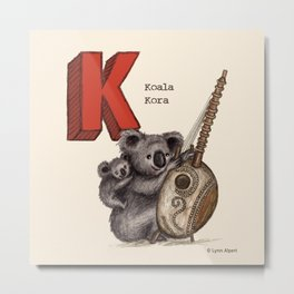 Animals & Instruments ABCs – K Metal Print