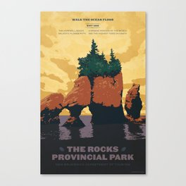 Hopewell Rocks Poster Canvas Print