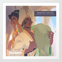 musa Art Prints featuring Mansa Musa by DennisARTWORKS