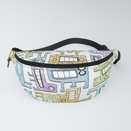 Pastel Tetris Monsters Fanny Pack