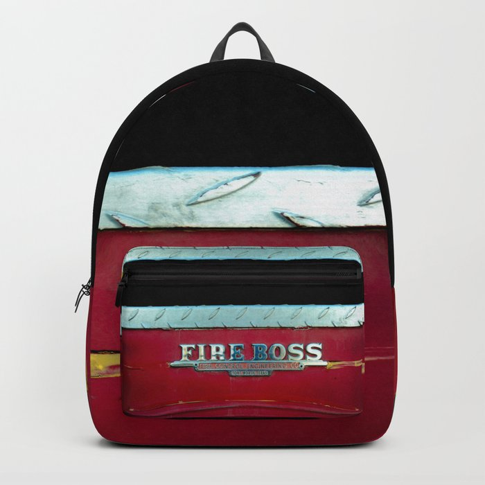Fire Boss - Fort Worth - Fire Engine Red and Chrome Backpack