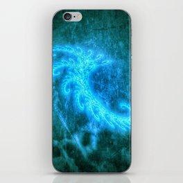 Blue Spiral Fractal iPhone Skin