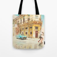rio Tote Bags featuring RIO by Nechifor Ionut