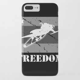 FREEDOM! Snowmobile iPhone Case