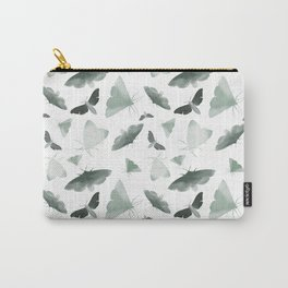 Watercolor Moths Carry-All Pouch