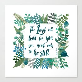 Exodus 14:14 Canvas Print