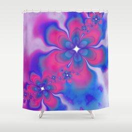 Fleurs Fête Fractal Shower Curtain
