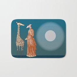Giraffes - Late night rendezvous Bath Mat