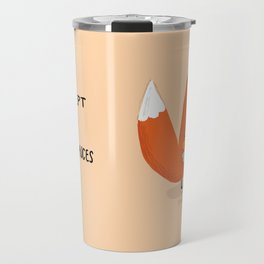 Fox & Duck - I Accept Our Differences Travel Mug