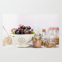 fruits, vegetables, grains, legumes and nuts Rug