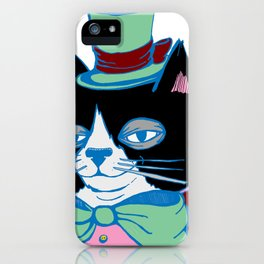 Dignified Cat Does Pastels iPhone Case