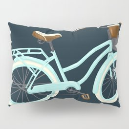 My Bike Floral Pillow Sham