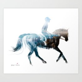 Horse (Canter on the beach) Art Print