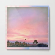 Rose Quartz and Serenity Landscape Metal Print