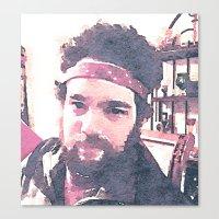 jon contino Canvas Prints featuring Jon by Jose Luis