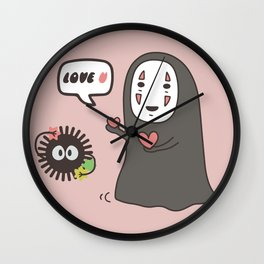 Studio Ghibli No-Face in Love of SootBall Wall Clock