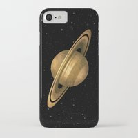 saturn iPhone & iPod Cases featuring Saturn by Terry Fan