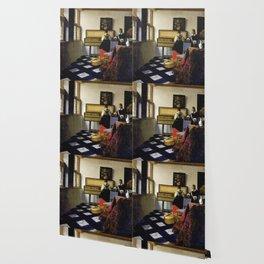 Johannes Vermeer  - The Music Lesson Wallpaper