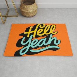 hell yeah 004 x typography Rug