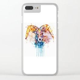 Bighorn Sheep Portrait Clear iPhone Case