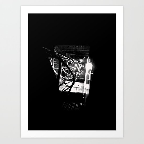 Old Town Elevator Art Print