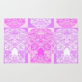 Pink and Purple Sugar Skulls Collage Rug