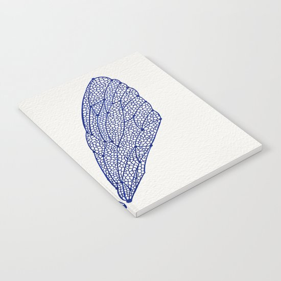 Navy Cicada Wings Notebook