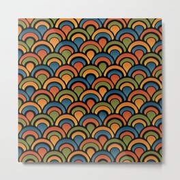 Pop Fan Pattern Metal Print