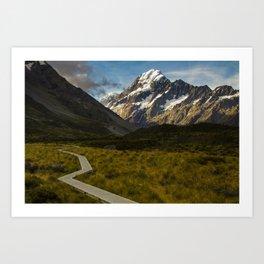Aoraki Mount Cook NP in Summer Art Print