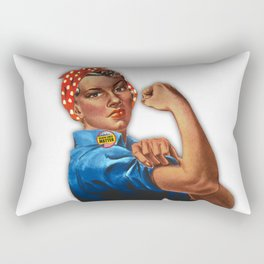 Black Lives Matter Rosie The Riveter Rectangular Pillow