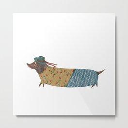 Stylish Sausage Dog Metal Print