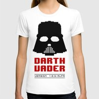 8 bit T-shirts featuring 8-bit Darth Vader by Sylwia Borkowska