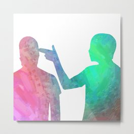 We Turned Our Hands to Guns Metal Print
