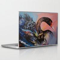 black swan Laptop & iPad Skins featuring Black Swan by Michael Creese