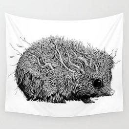 Leaf Hedgehog Wall Tapestry